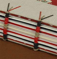 Single Sheet Sewing - Hard Cover on Cords with Cindy Hollander. Unlike traditional post or Japanese stab bindings, this type of binding allows you to sew single, unfolded sheets of paper, board, plexiglass, or other material into a book form which opens perfectly flat. The binding utilizes waxed thread, twisted together to form a 3 ply cord, with the ends being untwisted and sewn into the hard cover to complete. The text block will be sewn using a sewing frame.