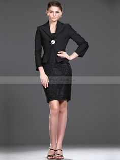 563ba49283 Short Sheath Satin Mother of the Bride Dress with Jacket Wedding  Consultant