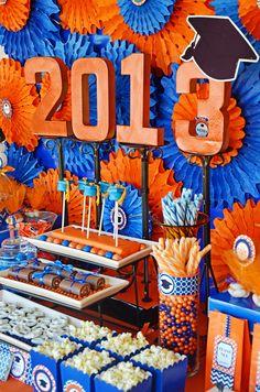 Orange/blue Graduation/End of School Party Ideas | Photo 1 of 40 | Catch My Party