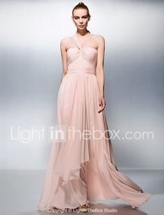 TS Couture Prom Formal Evening Military Ball Dress - Elegant A-line Princess One Shoulder Sweetheart Floor-length Chiffon withDraping 2017 - $69.99