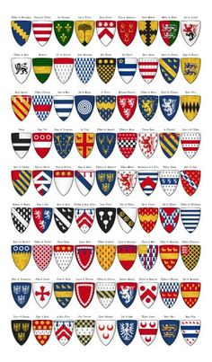 Charles' Roll - Panel 3 - shields 163 to 243