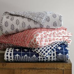 West Elm Block-printed fabric