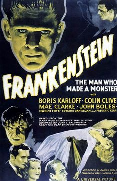 Classic Movies Frankenstein Poster-Boris Karloff - so talented. That voice-able to be creepy but in such a nice way. Horror Movie Posters, Classic Movie Posters, Best Horror Movies, Classic Horror Movies, Scary Movies, Old Movies, Classic Movies, Vintage Movies, Vintage Art
