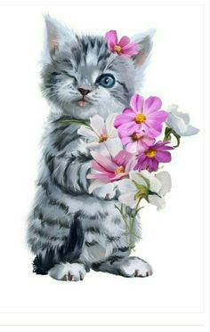 Ideas Cute Art Drawings Animals Beautiful For 2019 Cute Baby Cats, Cute Baby Animals, Kittens Cutest, Cats And Kittens, Illustration Inspiration, Image Chat, Cute Animal Drawings, Cat Wallpaper, Cat Drawing