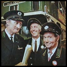 """""""On the Buses"""": the TV series starring Stephen Lewis as the Inspector, Bob Grant as Jack and Reg Varney as Stan Butler. The series spawned three theatrical feature films from Hammer Productions in the with the same cast British Tv Comedies, Classic Comedies, British Comedy Films, English Comedy, 1970s Childhood, My Childhood Memories, Radios, Tv Show Casting, Vintage Tv"""