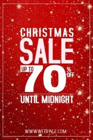 Christmas Retail Sale Flyer Template Red