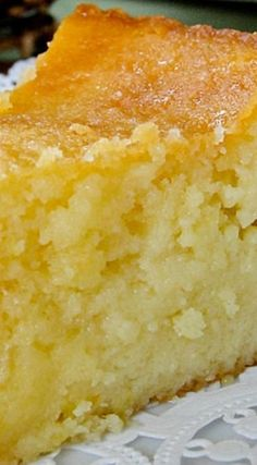 Sticky Lemon Cake Recipe ~ comfort baking at its best.