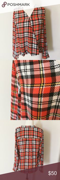 NWT The Limited Exclusive NWT-super cute Plaid print The Limited Tops Blouses