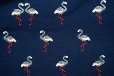 Ptx16/17 964246-23 Tricot glitter flamingo donkerblauw