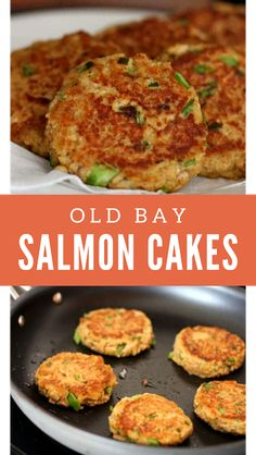 Old Bay Salmon Cakes Recipe Salmon patties are an easy salmon recipe that comes together in minutes. Serve these Old Bay salmon cakes with lemon & a green salad for a light dinner. Old Bay Salmon Cakes Recipe, Canned Salmon Cakes, Healthy Salmon Cakes, Salmon Recipe Pan, Canned Salmon Recipes, Seared Salmon Recipes, Salmon Patties Recipe, Easy Salmon Recipes, Baked Salmon