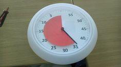 Countdown Uhr für den Unterricht - aus einer Ikea Uhr gebastelt