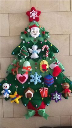 Craft for toddlers christmas felt tree 62 ideas. Kids will love this Christmas Felt tree. They enjoy creating their Christmas tree. Christmas Sewing, Toddler Christmas, Handmade Christmas, Christmas Crafts, Christmas Tree For Toddlers, Pallet Christmas, Snoopy Christmas, Christmas Christmas, Christmas Ideas