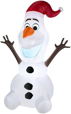 Christmas Airblown Inflatable Penguin 8.5/' Fuzzy Plush Blow Up Yard Decor