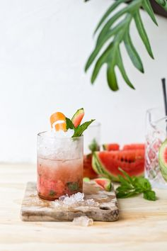 Watermelon Grapefruit Mojito #NationalWatermelonDay #Cocktail #Mojito