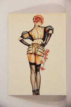 L008669 Olivia DeBerardinis 1992 Card #30 - Redhead 1982 / Pin-Up Art