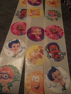 BUBBLE GUPPIES Stickers / Envelope Seals / by InspirationsToCraft, $5.00