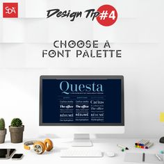 It is very important to pick a font that stands out for your titles and headers, but for your subtitles and body the font needs to be visually appealing and easily readable.  #SpicetreeDesignAgency #SDA #sdazone #design #Tip4 #digitalmarketing #creativeagency #webdesign #graphicdesign #graphics