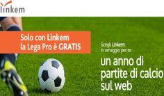 Linkem, il servizio internet senza linea fissa, regala un anno di partite di calcio della propria squadra ai nuovi abbonati.