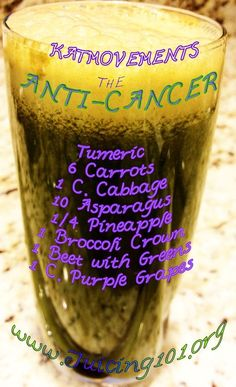 The ANIT-CANCER JUICE TONIC  To Your Health! Kat =^.^=  http://www.facebook.com/JUICING101