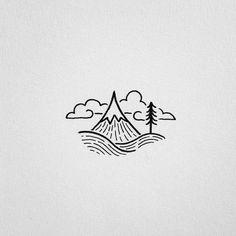 Cool easy drawings to draw pin by mya li zuckerman on doodles Cool Easy Drawings, Mini Drawings, Doodle Drawings, Doodle Art, Citation Photo Instagram, Mountain Tattoo, Simple Doodles, Pen Art, Grafik Design