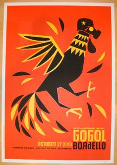 2010 Gogol Bordello - Boulder Concert Poster by Dan Stiles