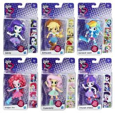 My Little Pony Equestria Minis Mini-Figures Wave 1 - Hasbro - My Little Pony. Got all but RD. My Little Pony Dolls, Hasbro My Little Pony, My Little Pony Party, Little Pony Cake, My Little Pony Birthday, Goth Disney Princesses, Mlp, Fluttershy, Equestrian Girls