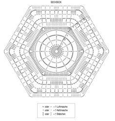 Gehäkeltes Dreieckstuch aus Granny-Squares
