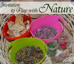 very goof article with thoughts on creating alongside your children - Invitation to Play with Nature | Wildlife Fun 4 Kids