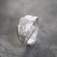 18717 - Ring zilver wit