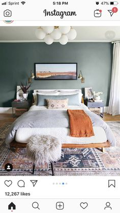Dark Green Walls the New White Walls? (Short Answer: We Think Maybe) Are Dark Green Walls the New White Walls? (Short Answer: We Think Maybe) - Emily HendersonAre Dark Green Walls the New White Walls? (Short Answer: We Think Maybe) - Emily Henderson Home Decor Bedroom, Bedroom Decor, Bedroom Green, Bedroom Interior, Home, Bedroom Inspirations, Bedroom Paint, Home Bedroom, Home Decor