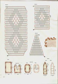Clube do Crochê: Jogo de Banheiro Cru e marrom mesclado (com gráfico)