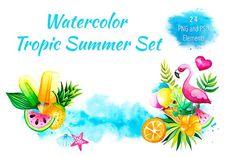 Tropic Summer by ESchweitzerDesign on @creativemarket