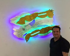 Led sculpture and Led and neon sculpture