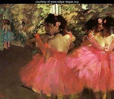 Edgar Degas Dancers in Pink painting, oil on canvas & frame; Edgar Degas Dancers in Pink is shipped worldwide, 60 days money back guarantee. Camille Pissarro, Edgar Degas, Degas Ballerina, Ballerina Painting, Pierre Auguste Renoir, Edouard Manet, Ballerine Degas, Degas Paintings, Impressionist Paintings