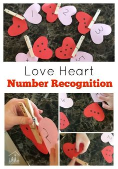 Add some love to learning this Winter with our Love Heart Number Recognition Matching Game. Watch as your love hearts turn into Butterflies. Perfect for a Valentine's Day Preschool Theme. Preschool Learning Activities, Preschool Themes, Preschool Lessons, Toddler Activities, Preschool Activities, Kids Learning, Preschool Kindergarten, Montessori Math, Preschool Printables