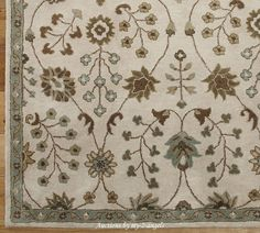 NEW Pottery Barn 5x8 5 x 8 Allison Floral Persian-Inspired Wool Rug #PotteryBarn #Persian