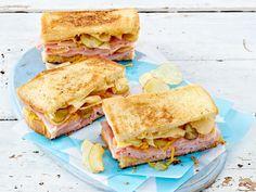 Sandwich-Rezepte - belegte Brote deluxe! - gebratenes-kaese-sandwich Rezept