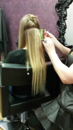 22 inch micro Tape in extensions at Tammy's Hair Design
