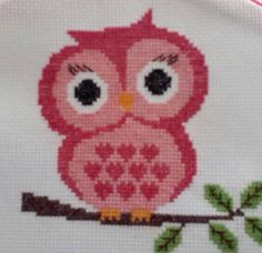 Owl cross stitch I completed