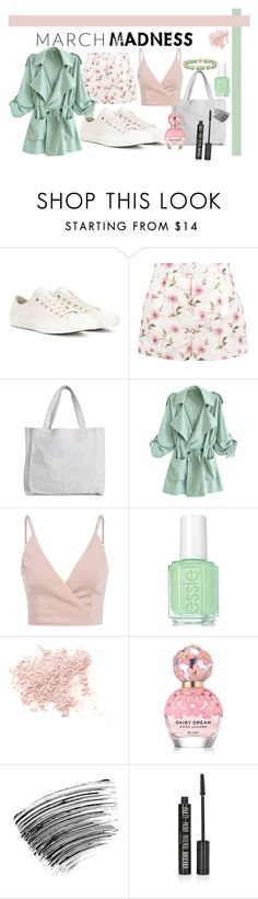"""March Madness"" by romi-kella ❤ liked on Polyvore featuring Converse, RED Valentino, WithChic, Essie, Bare Escentuals, Marc Jacobs, Bobbi Brown Cosmetics and Topshop"