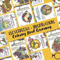 Enter the Cleverpedia + Inkspirations Coloring Book Giveaway!
