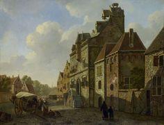 Stadsgezicht in Dordrecht, Johannes Schoenmakers, Johannes Christiaan Schotel, 1819 - 1821