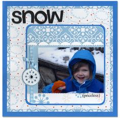 Snow - Scrapbook.com - #scrapbooking #layouts
