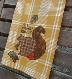 Fall Decor Plentiful Harvest Squirrel Acron by TwoGirlsLaughing, $22.00