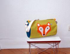 Wasserdichte Sporttasche mit Fuchs // Waterproof fox bag by bloomet via DaWanda.com
