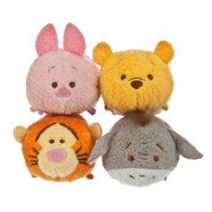Los simpaticos personajes de Winnie the Pooh en esta tiernisima colección de mini peluches Tsum Tsum