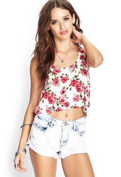 Rose Print Tank | FOREVER21 #F21FreeSpirit #Floral #SummerForever