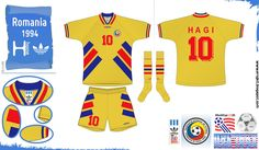 Romania home kit for the 1994 World Cup Finals.