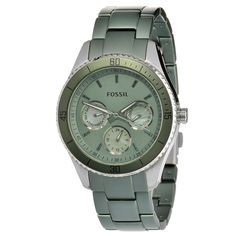 Fossil Women's ES3039 'Stella' Stainless Steel & Aluminum Watch #Fossil