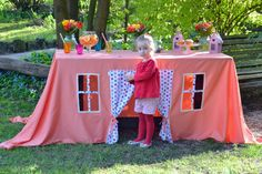 Coral tablecloth/ Table cloth Play house/ Children play house/ Baptism…